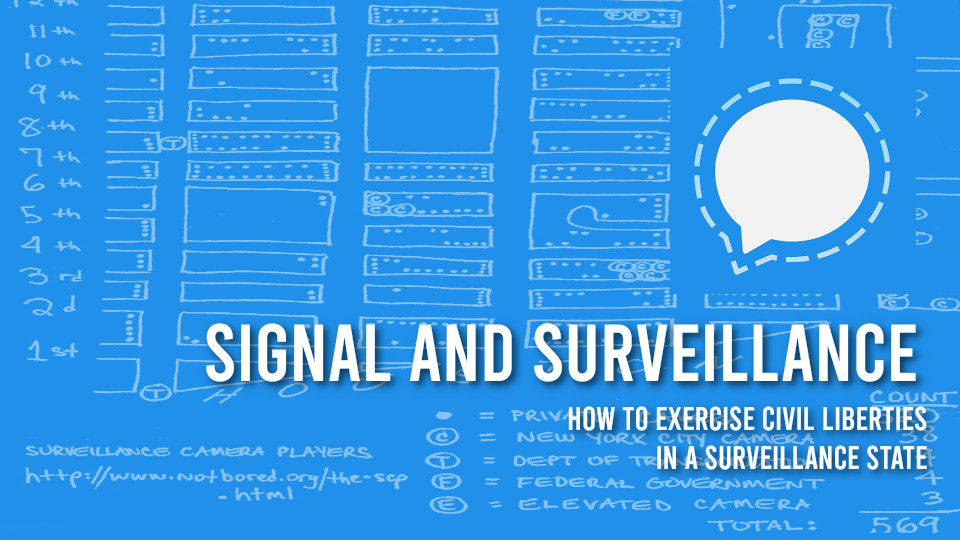 "Poster image for Tech Learning Collective's ""Signal and Surveillance"" workshop."