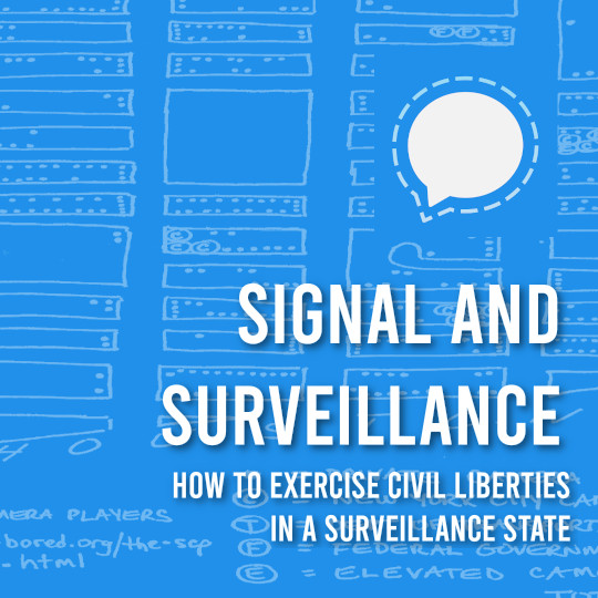 Poster for Signal and Surveillance: How to Exercise Digital Civil Liberties in a Surveillance State